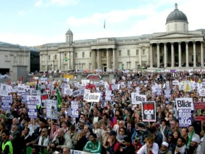 Anti Iraq war demonstration